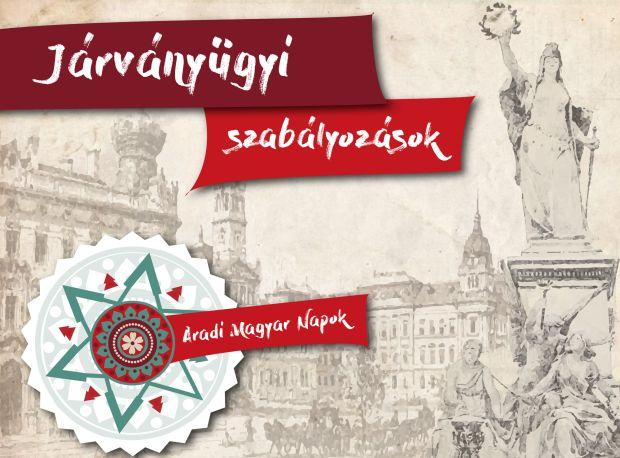 <em>Hír szerkesztése</em> Ezek a járványügyi szabályok érvényesek az Aradi Magyar Napokon