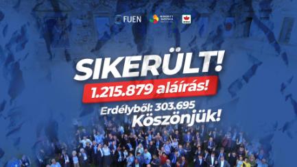 <em>Hír szerkesztése</em> Több mint 300 ezren írták alá az MSPI-t Romániában