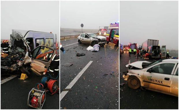 <em>Hír szerkesztése</em> Tömegbaleset az autópályán: egy személy meghalt