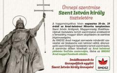 <em>Hír szerkesztése</em> Szent István-napi ünnepség Aradon és Pécskán