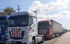 <em>Hír szerkesztése</em> Több száz kamionos tiltakozott az aradi körgyűrűn a napidíjak megadóztatása ellen
